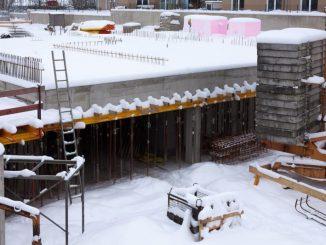 Froid sur chantier travaux bâtiment hiver