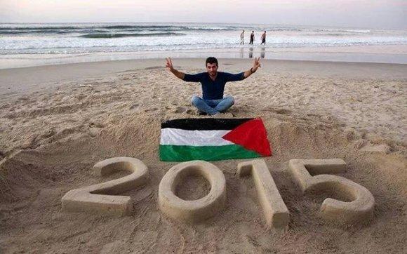 Osama Sbeata exprimait son espoir que 2015 soit une année de paix pour la Palestine (avec l'aimable autorisation d'Osama Sbeata)