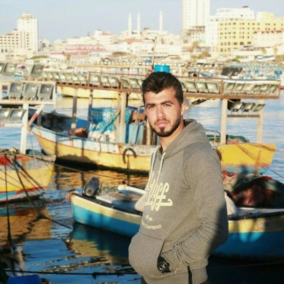 Osama Sbeata au port de Gaza (avec l'aimable autorisation d'Osama Sbeata)