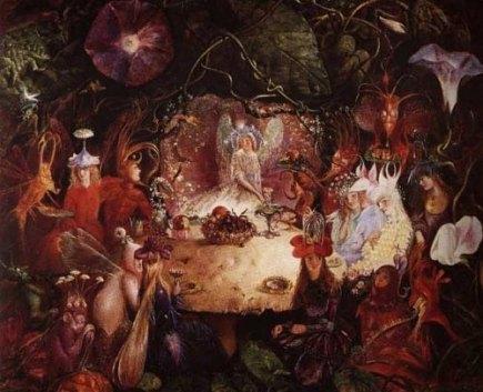 Le Banquet des Fées. Peinture de John Anster Fitzgerald, 1859