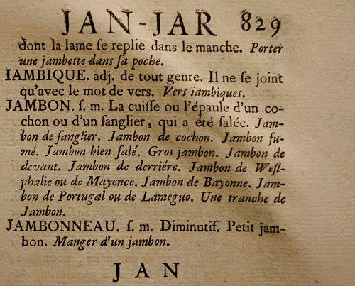 Extrait du Dictionnaire de l'Académie française