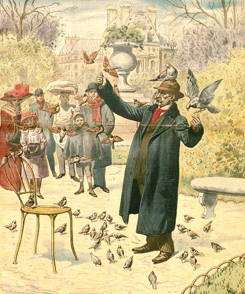 Henri Pol dans le jardin des Tuileries vers 1910