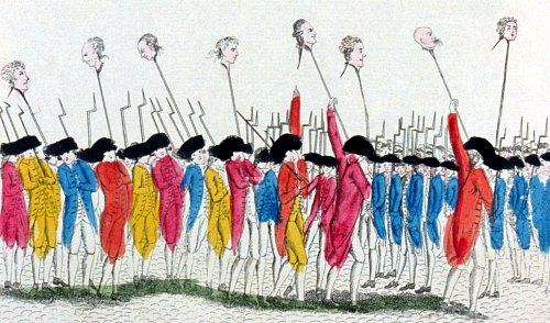C'est ainsi que l'on se venge des traitres. Gravure de 1789