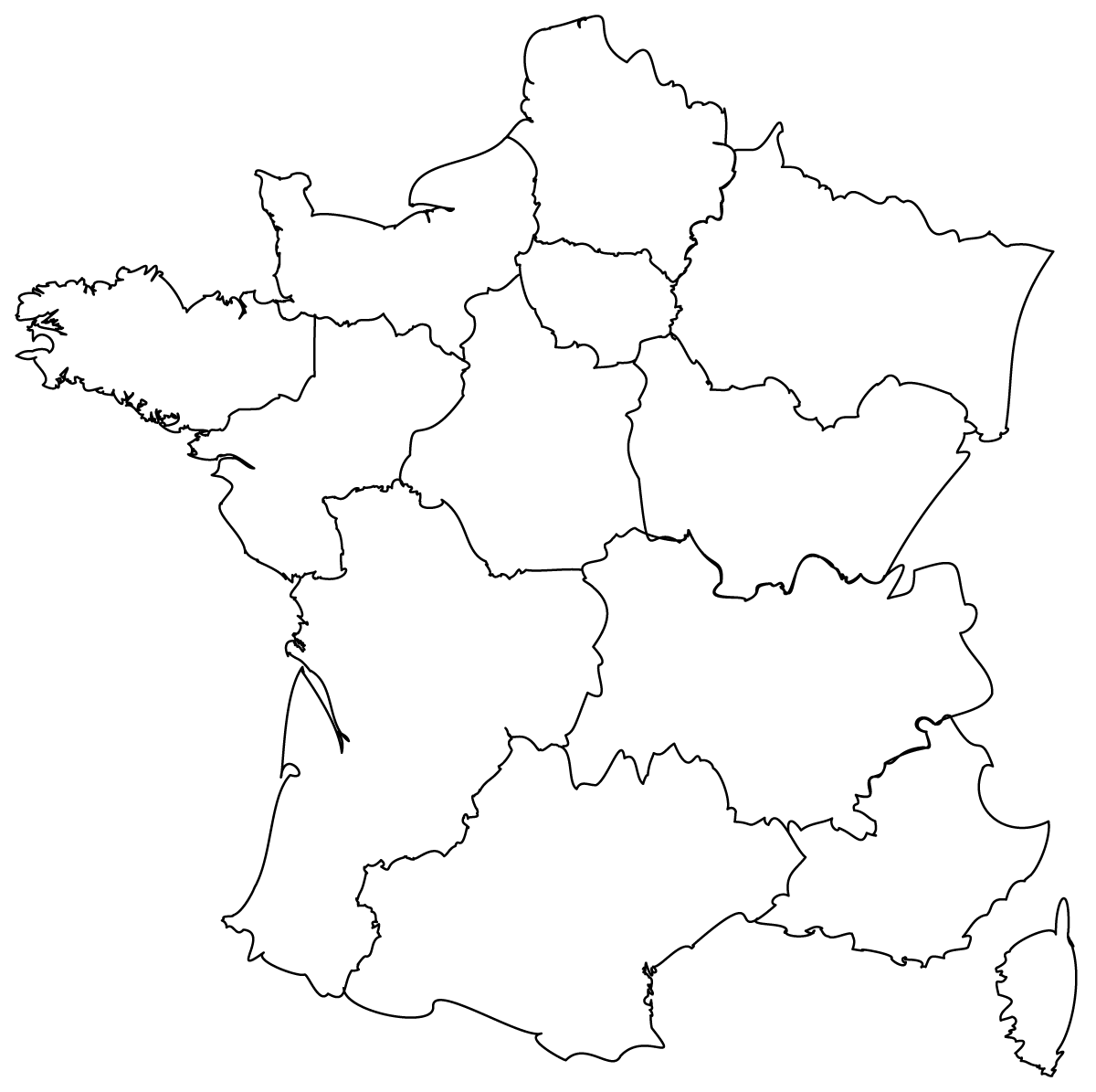Map Of France Printable