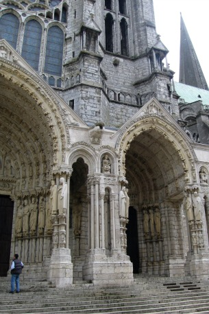 Gothic Cathedral Chartes Exterior Views North Transept