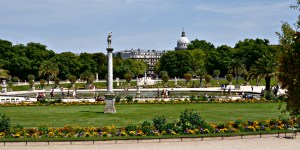 Luxembourg Garden with Pantheon in the background