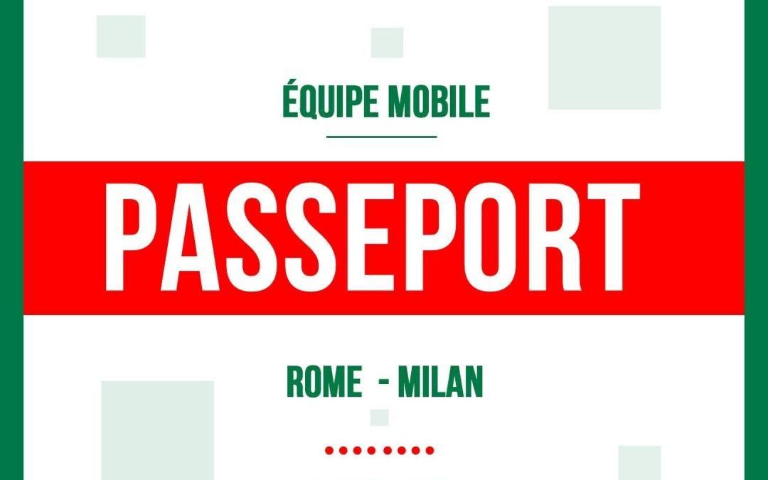 ÉQUIPE MOBILE EN ITALIE : RESTITUTION DE PASSEPORTS & COLLECTE DES DONNÉES BIOMÉTRIQUES