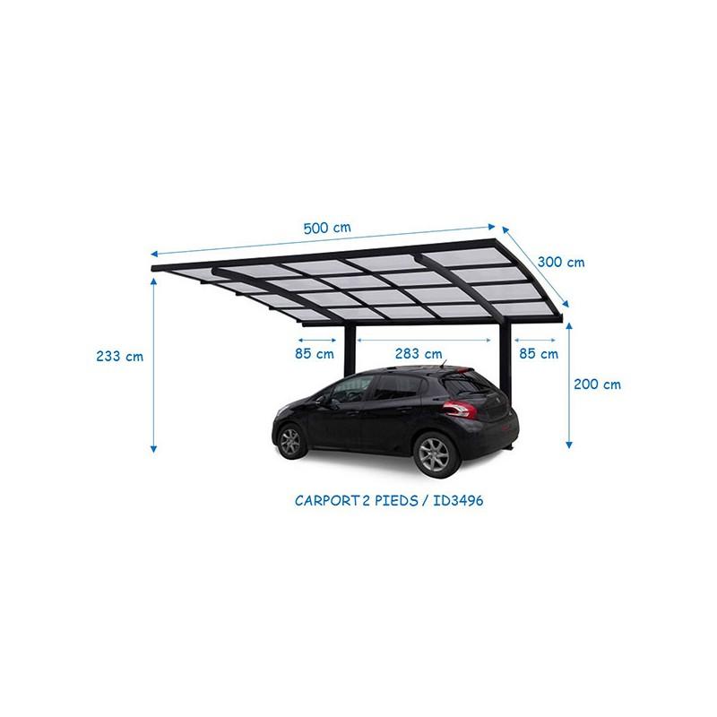abri voiture cintre carport aluminium