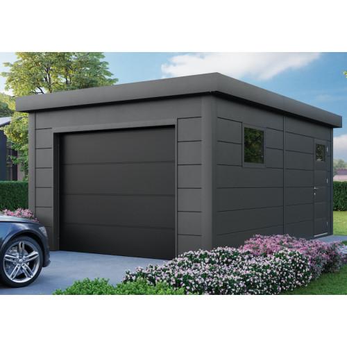 garage acier simple paroi porte motorisee
