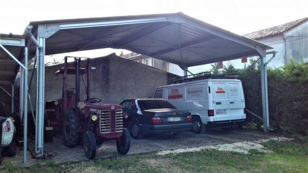 abri vehicule agricole voiture
