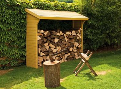 rangement pour le bois de chauffage