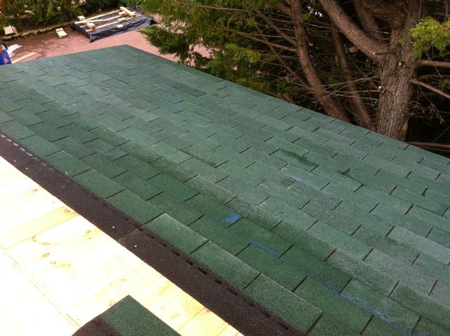 de toit pour un abri de jardin