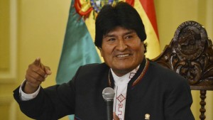 Le président bolivien Evo Morales lors d'une conférence de presse au palais présidentiel à La Paz, le 24 février 2016. REUTERS/Bolivian Presidency/Handout via Reuters