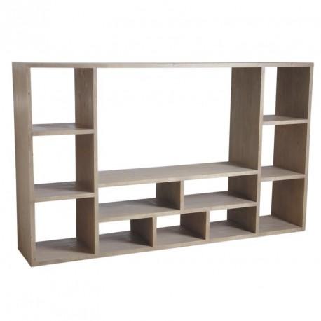 meuble tv avec rangement en bois massif avec de nombreuses niches au prix le moins cher