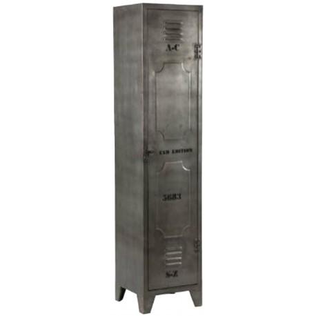 casier vestiaire metal industriel 1 portes 3 etageres en metal vieilli prix