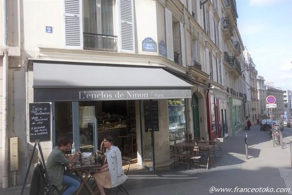 L'Enclos de Ninon パリカフェのんびりキャロットケーキ