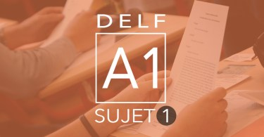 DELF A1 - sujet 1