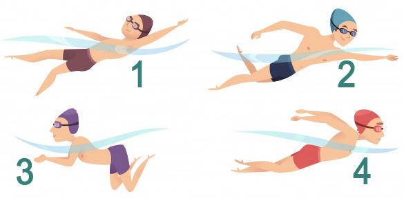 À la piscine : les types de nages
