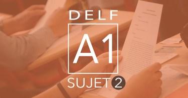 DELF A1 sujet 2