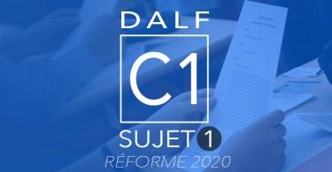 DALF C1 sujet 2020