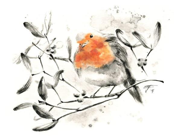 Sumi-e Style Illustration