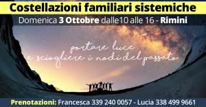 Costellazioni Familiari 3 Ottobre Rimini @ Rimini