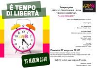 Cetraro, il 25 marzo l'inaugurazione del 'Presidio territoriale Libera Tirreno cosentino'