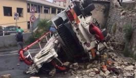 Tragedia sfiorata a Belvedere, mezzo si ribalta nei pressi dell'istituto Magistrale