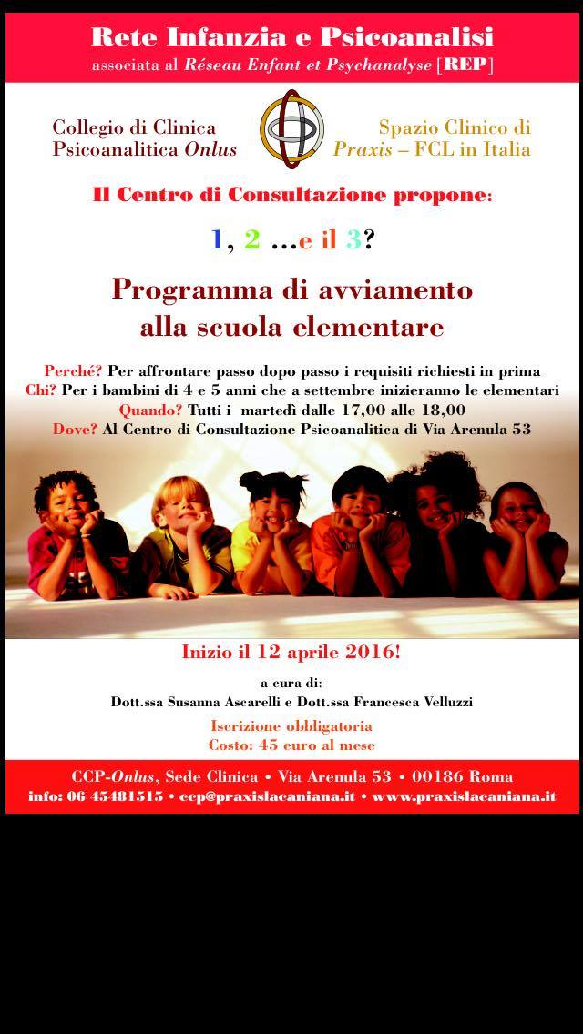 Programma di avviamento alla scuola elementare