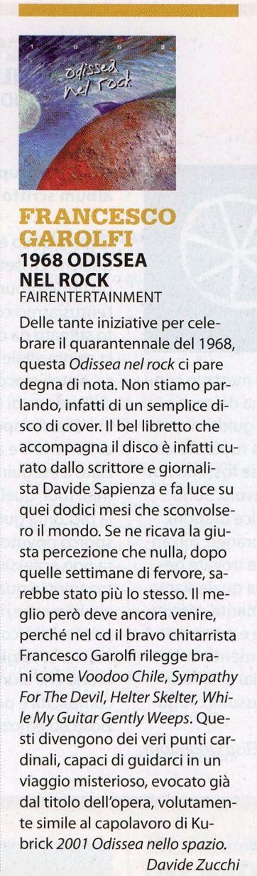 Francesco Garolfi Jam 1968 Odissea nel Rock