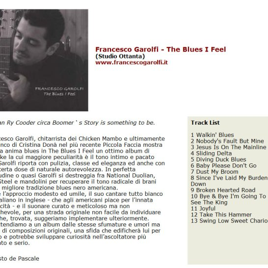 Francesco Garolfi Enesto De Pascale Il popolo del blues The Blues I Feel