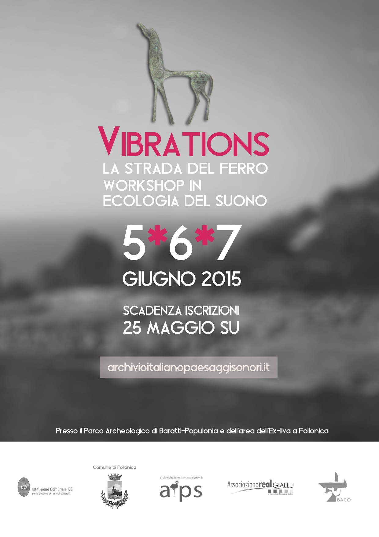 locandina vibrations workshop follonica
