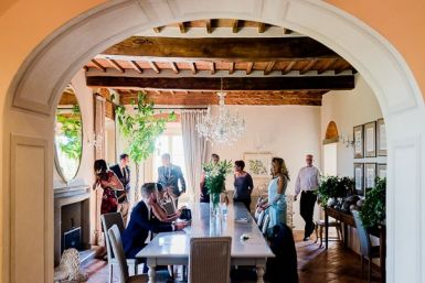 Gli invitati sono pronti | Matrimonio a Cortona intimate wedding in Tuscany