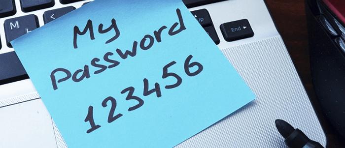 Password non sicura