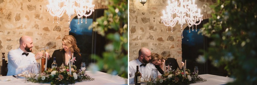 Romantic Italian elopement in Tuscany Photo / Dinner