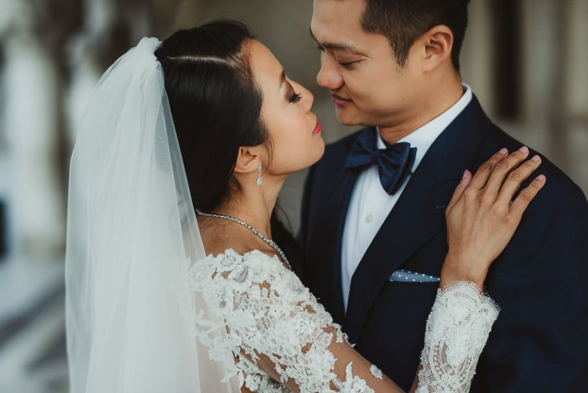 venice wedding photographer / bride + Groom portrait