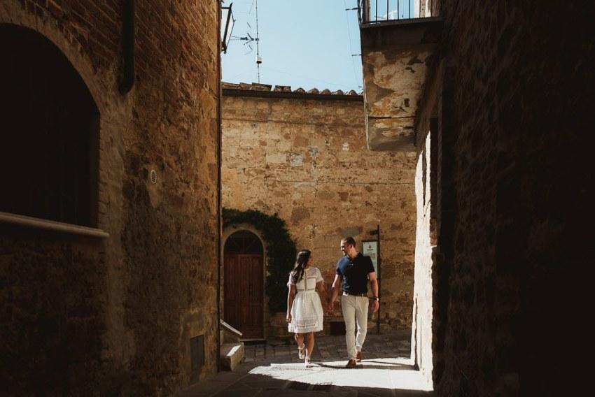Wedding proposal inspiration proposing in Tuscany