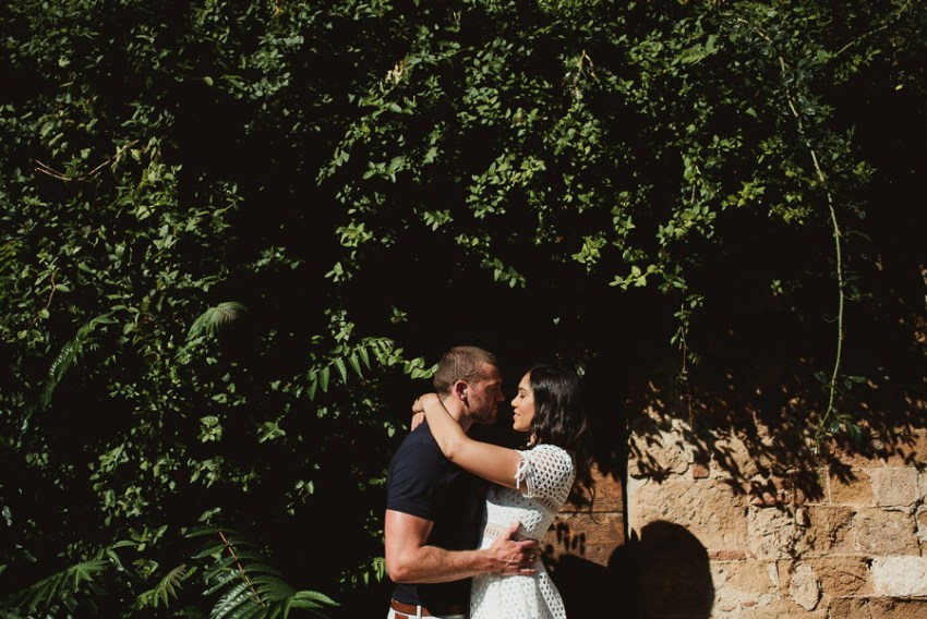 Wedding proposal inspiration portrait in Italy