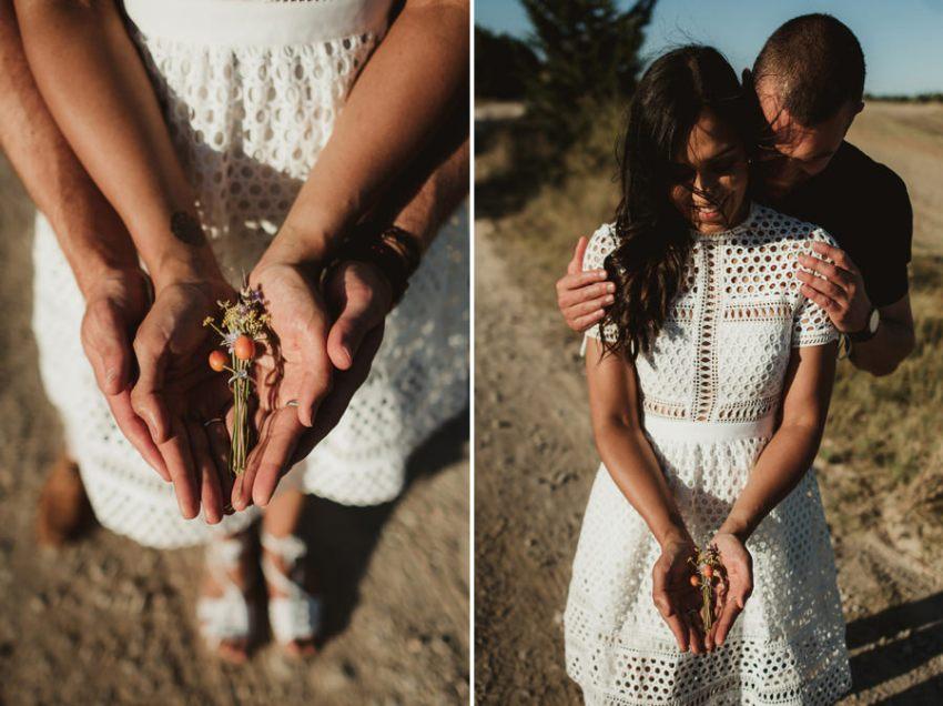 Wedding proposal inspiration in tuscany engagement ring closeup