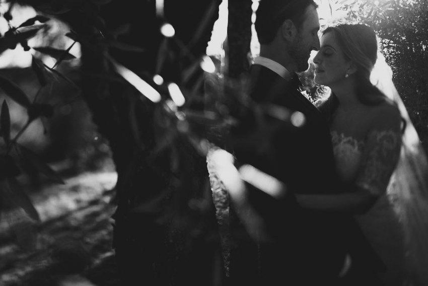 get married in Cortona Villa bride groom olive treee portrait in