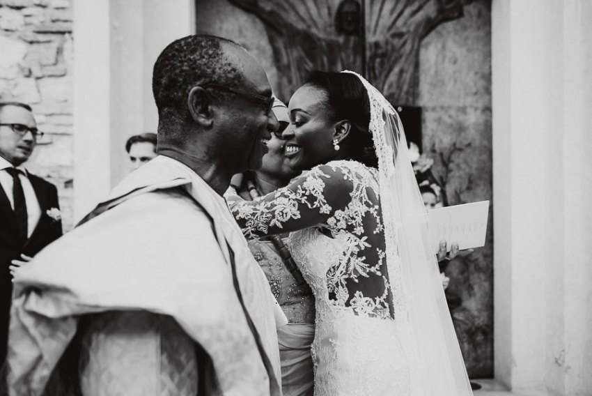 Sirmione Wedding photographer petal rice throwing