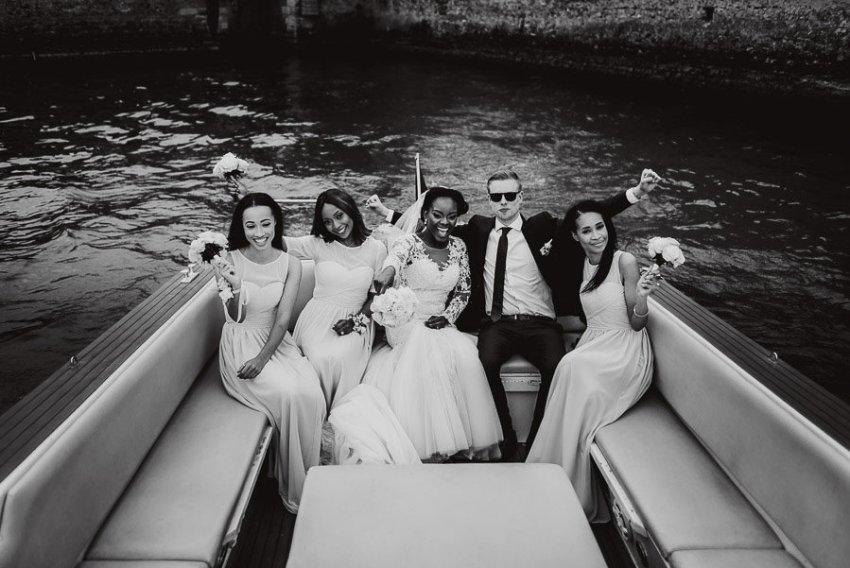 Sirmione Wedding photographer bride groom boat tour garda lake