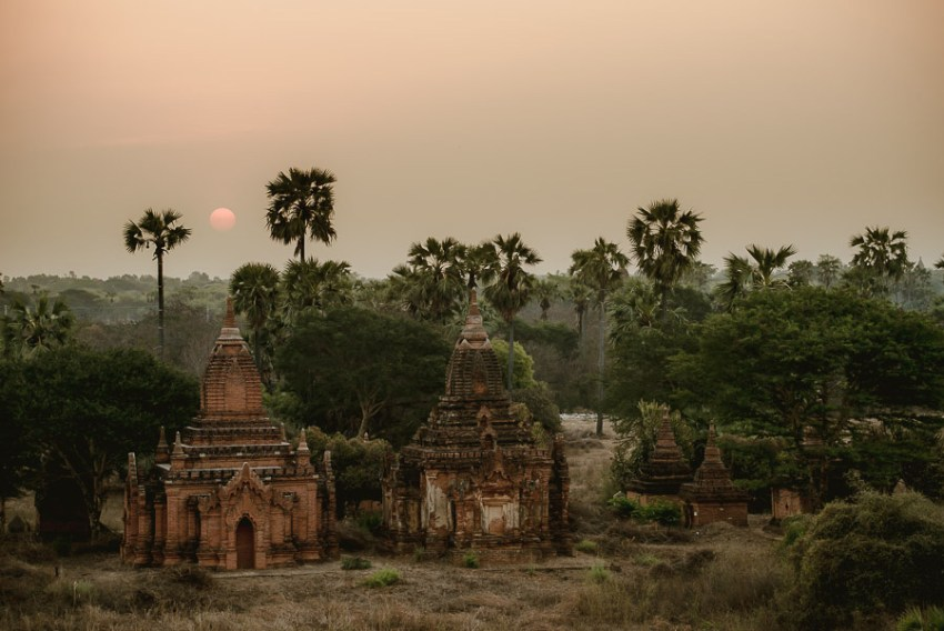 Myanmar engagement photography Bagan landscape