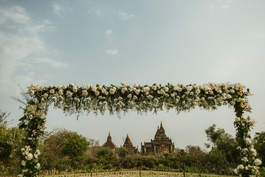 Myanmar wedding photographer Bagan Burma bride going to ceremony