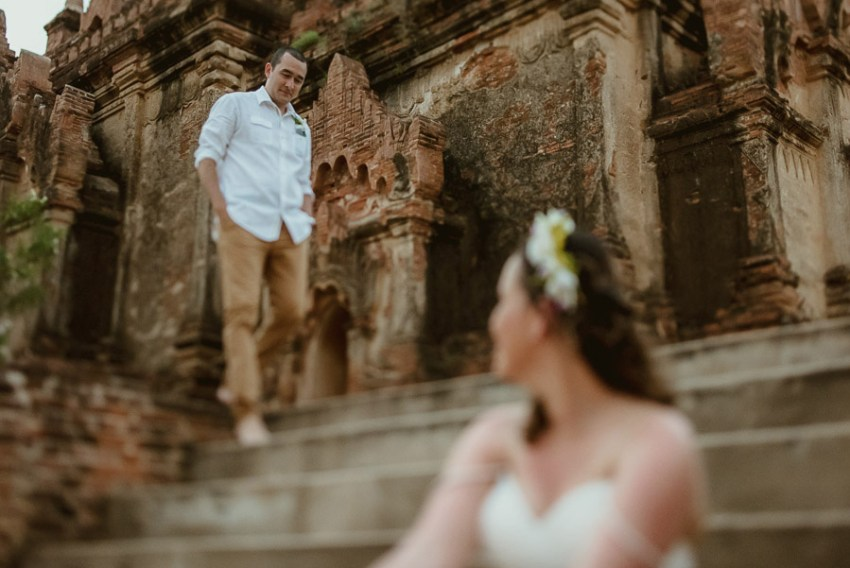 Myanmar elopement photographer Bagan Burma intimate romantic por
