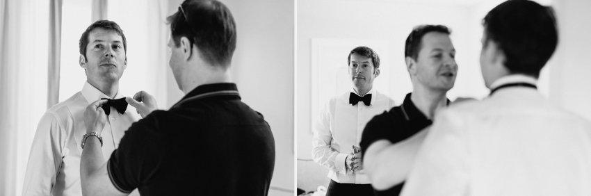 Siena wedding photographer borgo scopeto groom getting ready