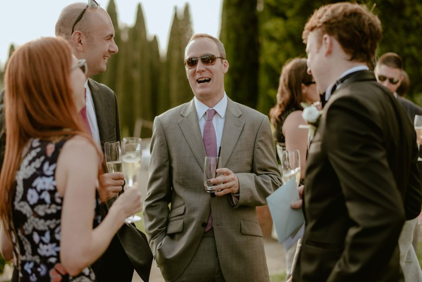 Siena wedding photographer borgo scopeto outdoor aperitif