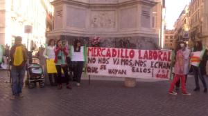 Frente a la embajada Española, Roma.