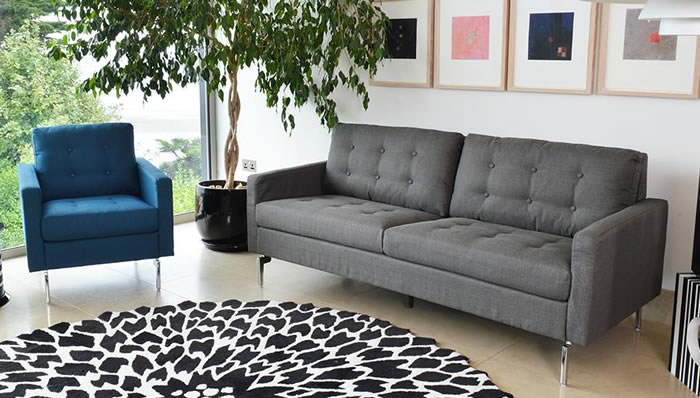 Pick of the Week      Monty 3 Seater Grey Sofa   Frances Hunt monty sofa