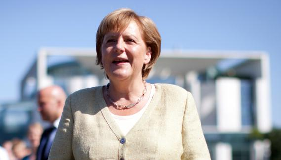 La chancelière allemande Angela Merkel à Berlin (Allemagne), le 19 août 2012.
